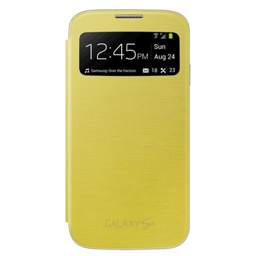 S VIEW COVER SAMSUNG GT-I9505 GALAXY S4 YELLOW