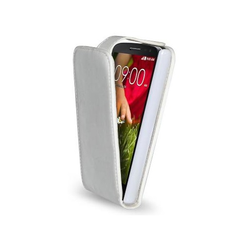 CUSTODIA ECO PELLE LG G2 MINI WHITE