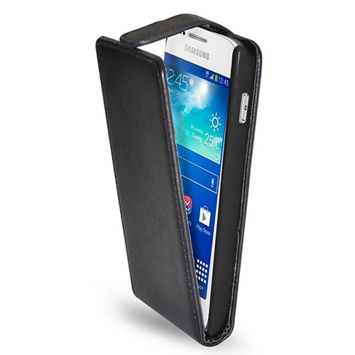 CUSTODIA ECO PELLE SAMSUNG GT-S7275 GALAXY ACE 3 BLACK