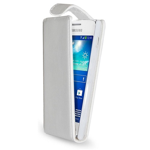 CUSTODIA ECO PELLE SAMSUNG GT-S7275 GALAXY ACE 3 WHITE