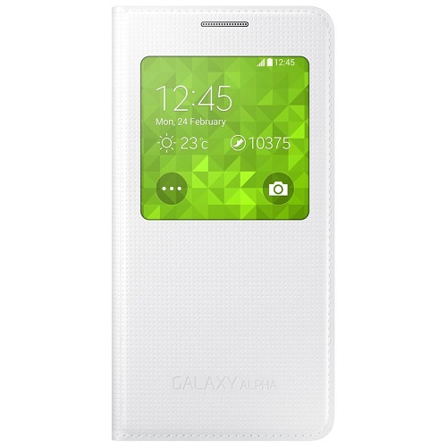 S VIEW COVER SAMSUNG GT-G850 GALAXY ALPHA WHITE