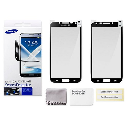 PELLICOLA PROTEGGI DISPLAY SAMSUNG GT-N7100 GALAXY NOTE 2 BORDI BLACK
