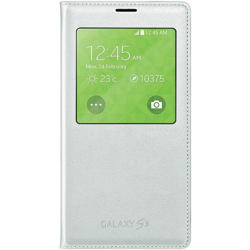 S VIEW COVER SAMSUNG SM-G900 GALAXY S5 WHITE