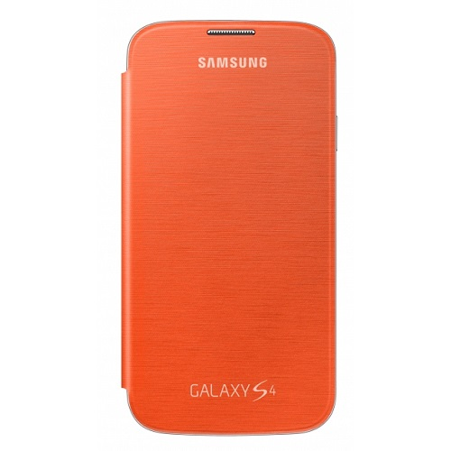 FLIP COVER SAMSUNG GT-I9505 GALAXY S4 ORANGE