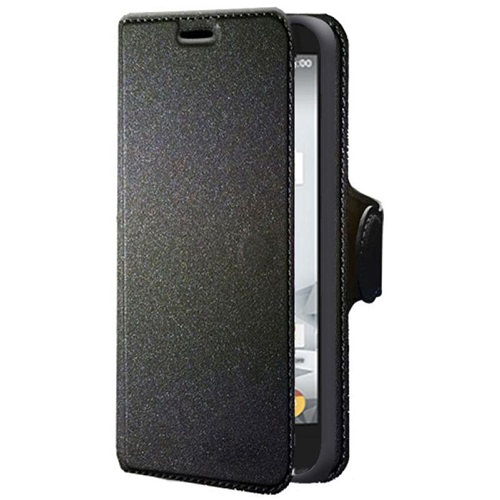 CUSTODIA ECO PELLE ALCATEL 5044 BLACK CHIUSURA A LIBRO