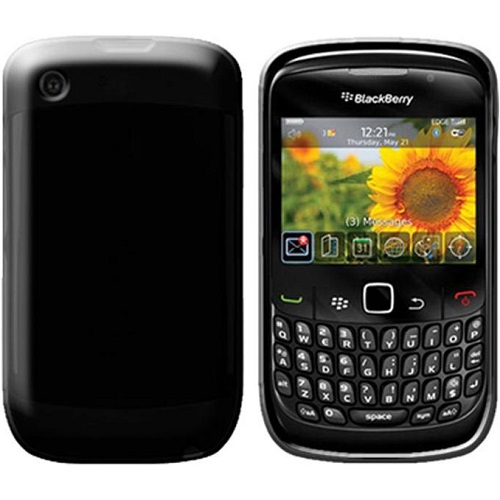 SILICONE CASE BLACKBERRY 8520 CURVE BLACK