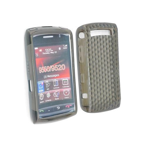 SILICONE CASE BLACKBERRY 9550 STORM 2 BLACK PRISMA