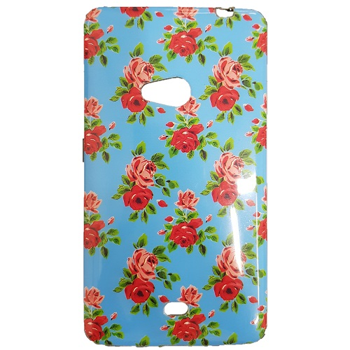 SILICONE CASE NOKIA LUMIA 625 BLUE FLOWERS