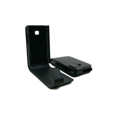 CUSTODIA ECO PELLE LG E400 OPTIMUS L3 BLACK