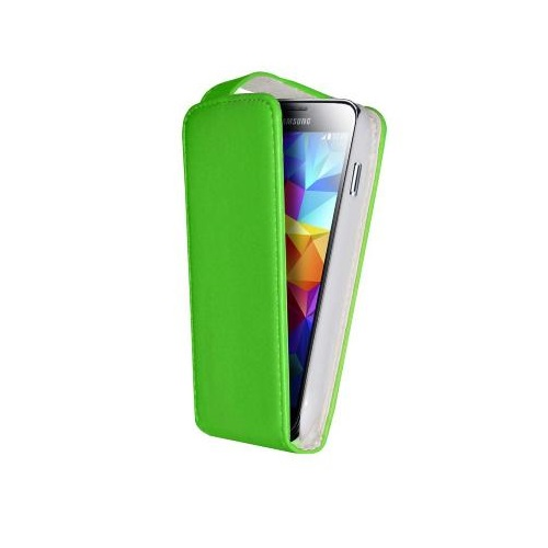 CUSTODIA ECO PELLE SAMSUNG SM-G900 GALAXY S5 GREEN