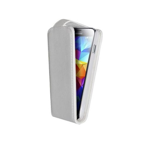 CUSTODIA ECO PELLE SAMSUNG SM-G900 GALAXY S5 WHITE