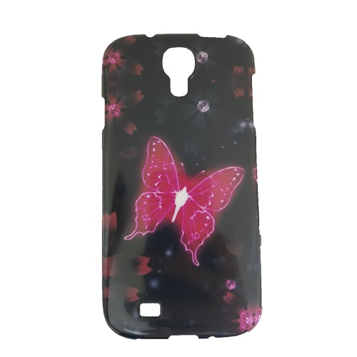 SILICONE CASE SAMSUNG I9505 GALAXY S4 RED BUTTERFLY