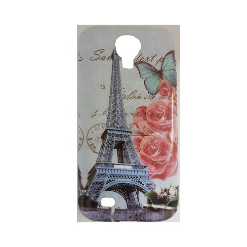 SILICONE CASE SAMSUNG I9505 GALAXY S4 TORRE EIFFEL NATURE