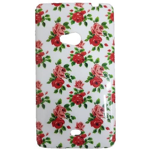 SILICONE CASE NOKIA LUMIA 625 WHITE FLOWERS