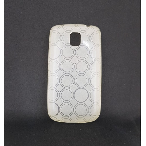 SILICONE CASE LG P500 OPTIMUS ONE WHITE CIRCLE
