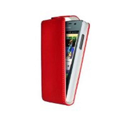 CUSTODIA ECO PELLE HUAWEI ASCEND Y300 RED