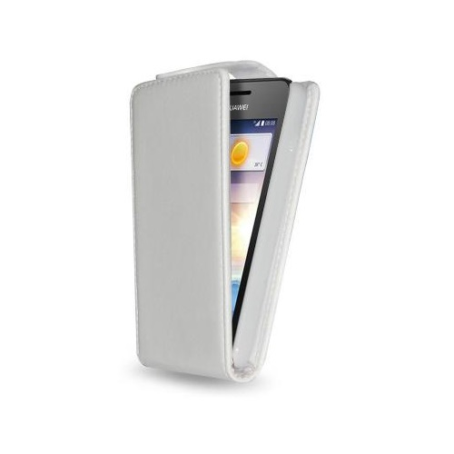 CUSTODIA ECO PELLE HUAWEI Y330 WHITE
